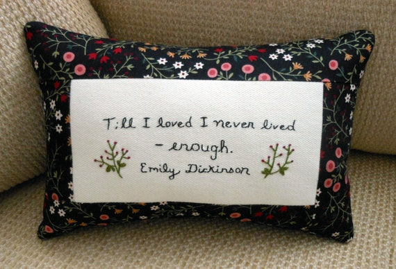 Emily Dickinson - Love Pillow