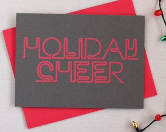 Neon Holiday Cards : HOLIDAY CHEER Pack of 8