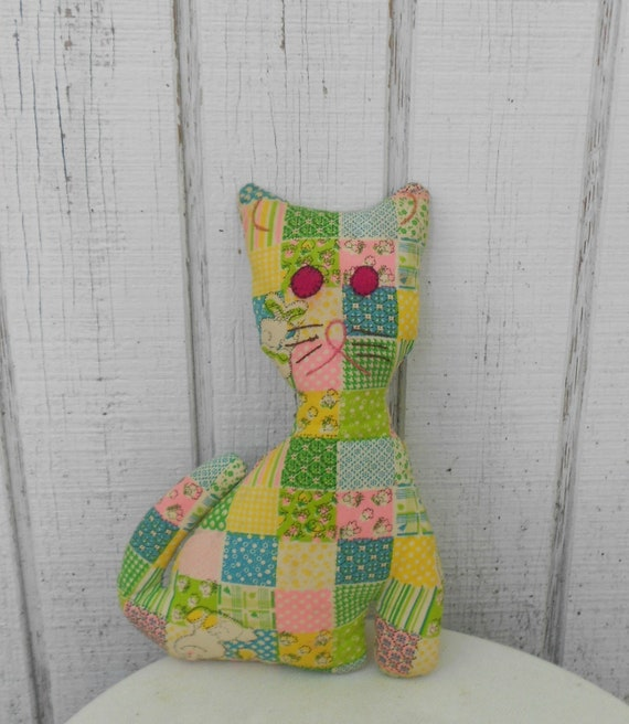 Vintage Cat Stuffed Animal Homemade Cat With By Klendovintage