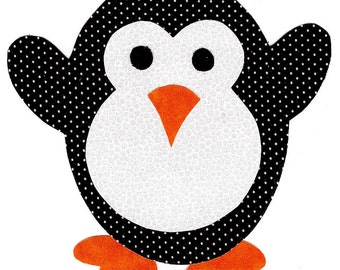 Penguin iron on applique DIY