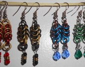 Hogwarts House Dangly Chainmail Earrings (One Pair)