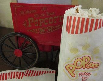 50 Retro Popcorn Bags