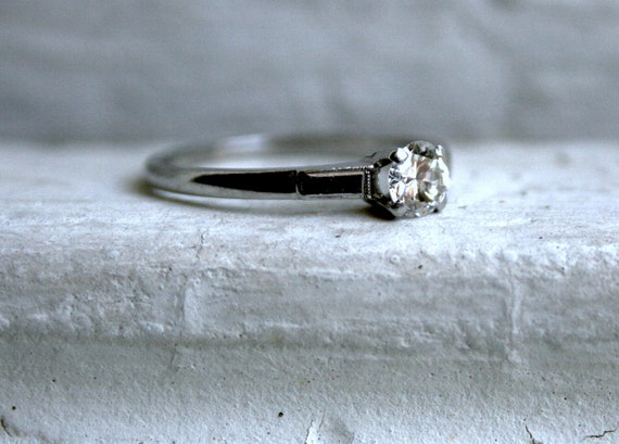 The Perfect Vintage Platinum Solitaire - 0.40ct.
