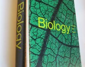 Biology Textbook from 1965 RESERVED for Sheri
