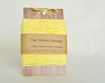 Yellow Bakers Twine Solid Color Twine Yellow Twine Daffodil Twine Soft 50 Yards