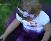 Lilac headband for girls