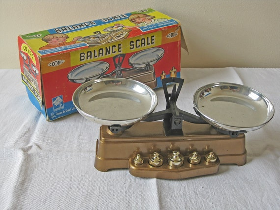 1960s toy balance scales by Codeg