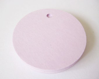 25 LAVENDER Circle Hang Tag, Gift Tag, Price Tag Die cuts punches cardstock 1.5 inch -Scrapbook, cards