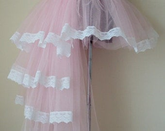Baby Pink White Burlesque  Bustle Tutu Skirt all sizes