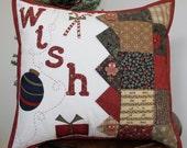 CHRISTMAS THROW PILLOW/Holiday Pillow/Designer Pillow
