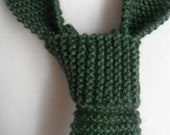 Knitted Tie, Skinny Knit Tie , Silk and Wool Tie, Men's Knit Tie, Green Tie