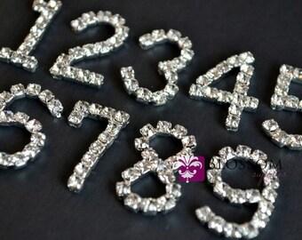 Rhinestone Number Embellishments - 21mm - Birthday Numbers - 1st Birthday - Numbers 0-9 - Craft Supplies Wholesale