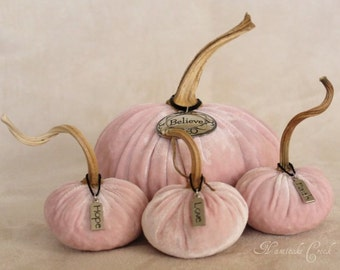 Luxurious Crushed Velvet Pumpkin Pretty in Pink