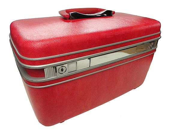 Vintage Samsonite Train Case - Hot Pink Travel Case Luggage