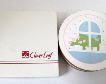 Clover Leaf Coaster Set c.1970