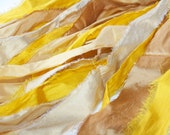 Recycled Silk Dupioni - 30 yards of Premium Silk Fiber Strips called Sun Kissed
