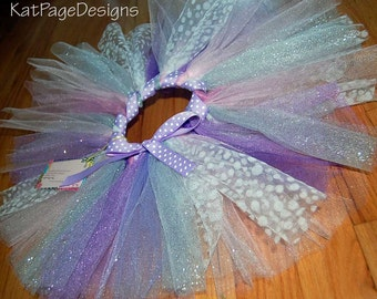 Child's Tutu - Purple glitter w/ wrapped ribbon waist