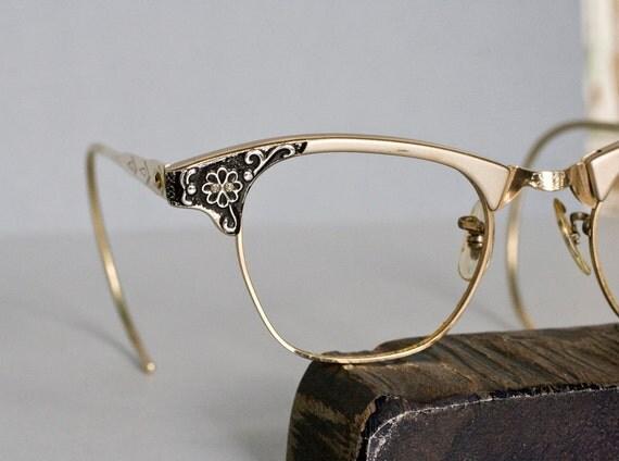 Cat Eye Gold Rimmed Sunglasses