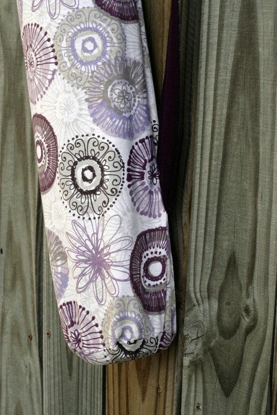 Yoga Pilates Mat Bag- Purple Flowers