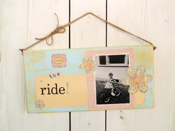 Vintage Home Decor Inspirational Quote Sign Enjoy the