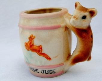 Vintage juice cup with deer