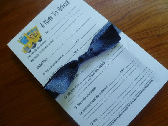 Customize your Note to School Notepads - 2 notepads/50 sheets each