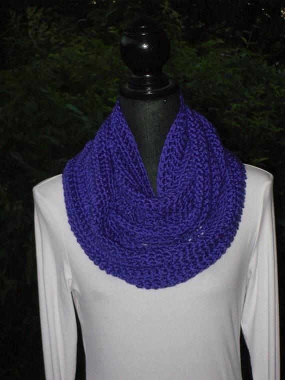 Infinity Eternity Cowl Neck Warmer Scarf Iris Purple