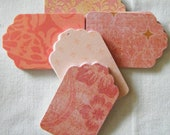 TREASURY FEATURE 50 Peach Pink Paper Tags Gift Favor Party Wedding Guest Escort Cards