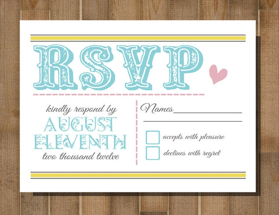 Gutsy image with printable rsvp cards