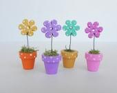 Miniature Dollhouse Flower Pot
