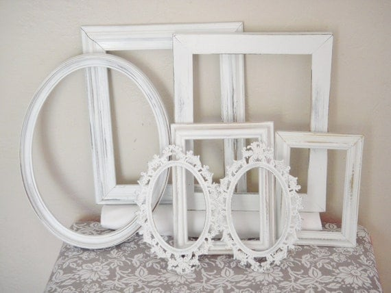7 Upcycled Ornate Wood/Metal Frame Lot  Shabby Chic
