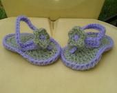 Baby Infant crochet flower flip flops