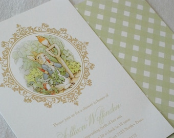 PRINTABLE - Peter Rabbit Baby Shower Invitation