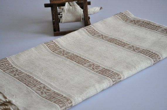 Handwoven Linen Peshtemal - Turkish Bath Towel