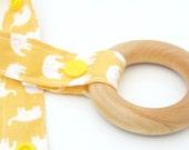 Teething Ring - Wooden Teether - Baby Toy - Teething Toy