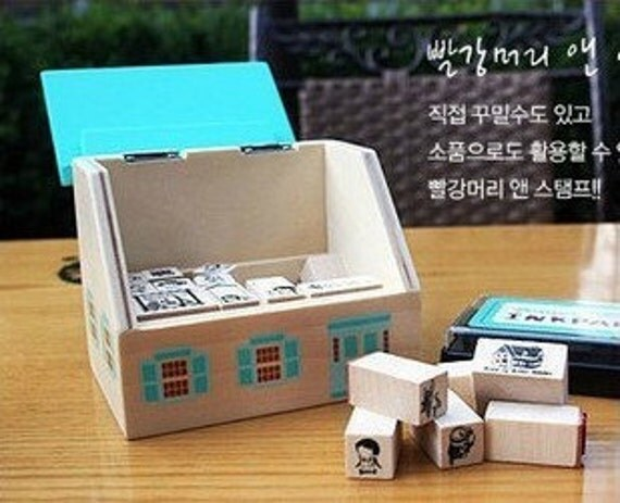 17 Kinds Korea DIY Woodiness Rubber Stamp- Anne Of Green Gables Stamps