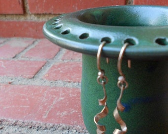 Green to Blue Matte Earring Jewelry Holder Bowl