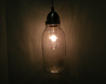 Antique Kerr 1/2  gallon Pendant light
