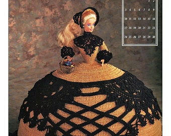 The Antebellum Collection Miss November 1991 Annies Calendar Bed Doll Society  Fashion Doll  Crochet Pattern  Annies Attic 7411