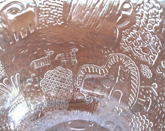 Large Oiva Toikka Crystal FAUNA Bowl MINT