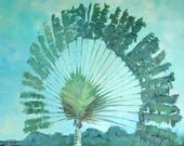 """Original Painting """"Travellers Palm"""", 16"""" x 20"""""""