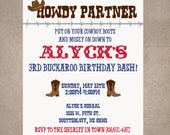 Howdy Partner/Cowboy Birthday Invite-Print your own
