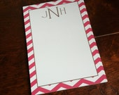 Hot Pink Stripe Stationery Set Coordinating Notepad
