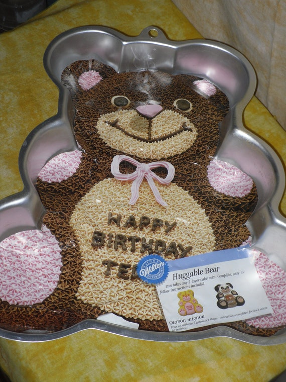 Huggable Teddy Bear Cake Pan By Wilton With Instructions