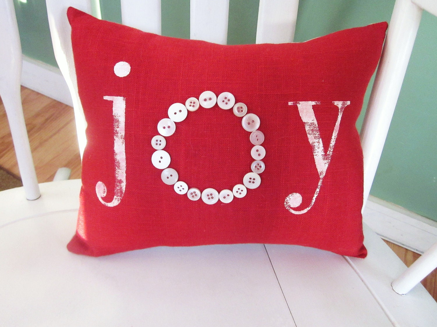 Shabby Chic Christmas Pillows : Holiday pillow christmas pillow shabby chic by 112FarmhouseLayne