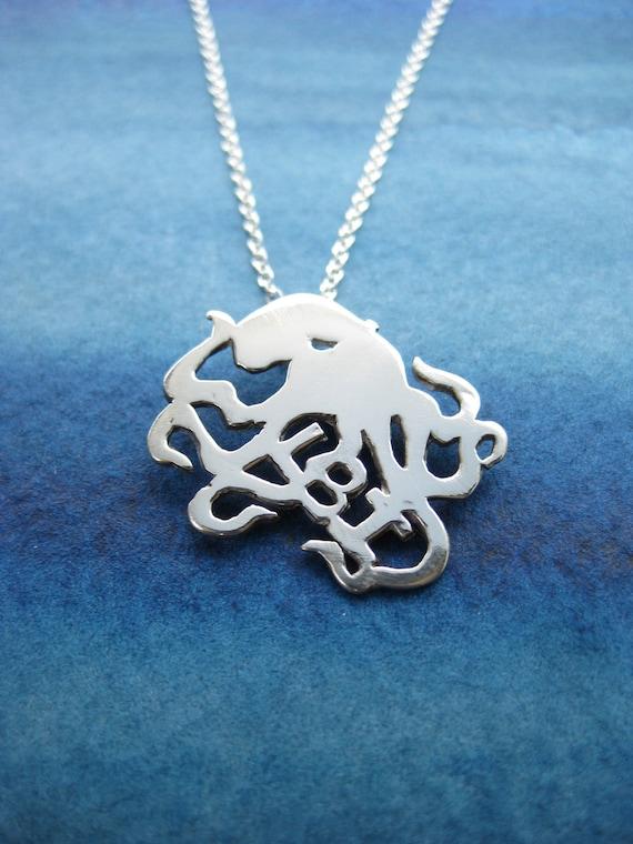 Unique LBI Octopus necklace/Lbi octopus jewelry/Unique LBI  jewelry/Long Beach Island necklace/LBI gift