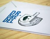 Dr. Dreidel (PACK OF 12) - Funny Hanukkah / Chanukah / Jewish Holidays Greeting Card / Hip Hop