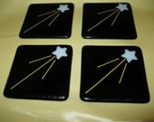 Wish Upon a Star Fused Glass Coasters - Item 8-1009
