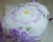 Infant Bonnet Made from Vintage Hankie