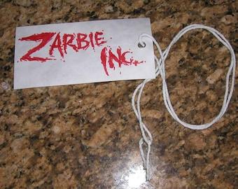 Zarbie Inc. Toe Tag Necklace
